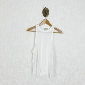 5/$25 Forever 21 Active White Mesh Back Tank Top